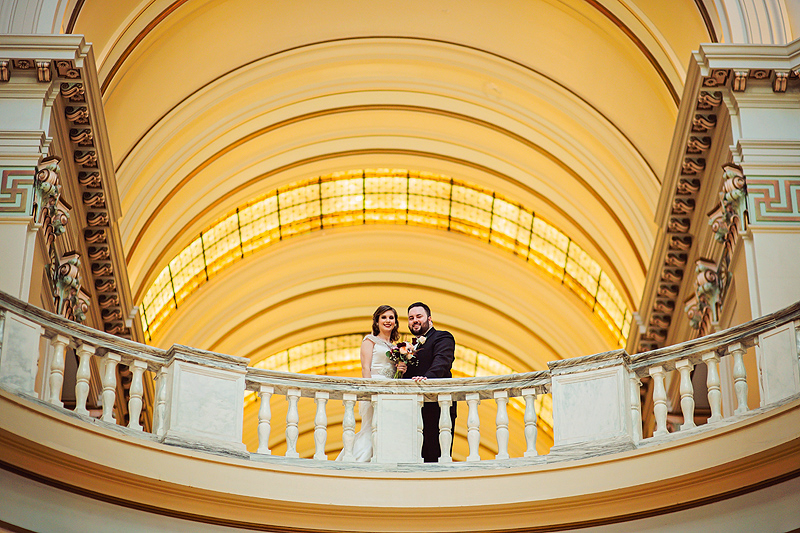 Bride & Groom in City Hall